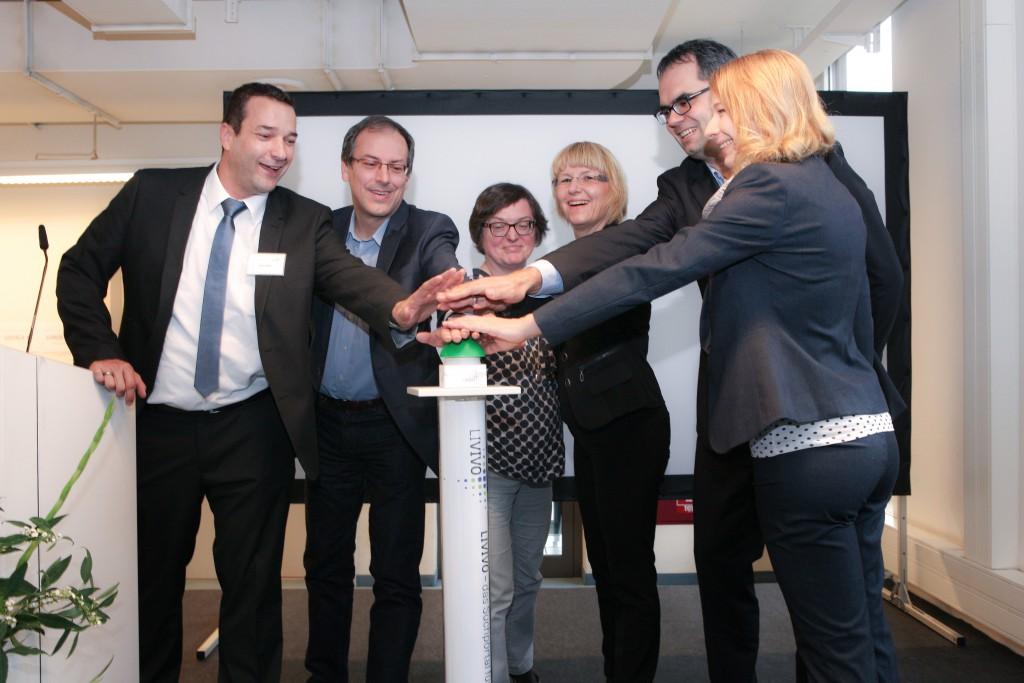 Das LIVIVO-Team beim offiziellen Start des neuen ZB MED-Suchportals LIVIVO am 10.11.2015