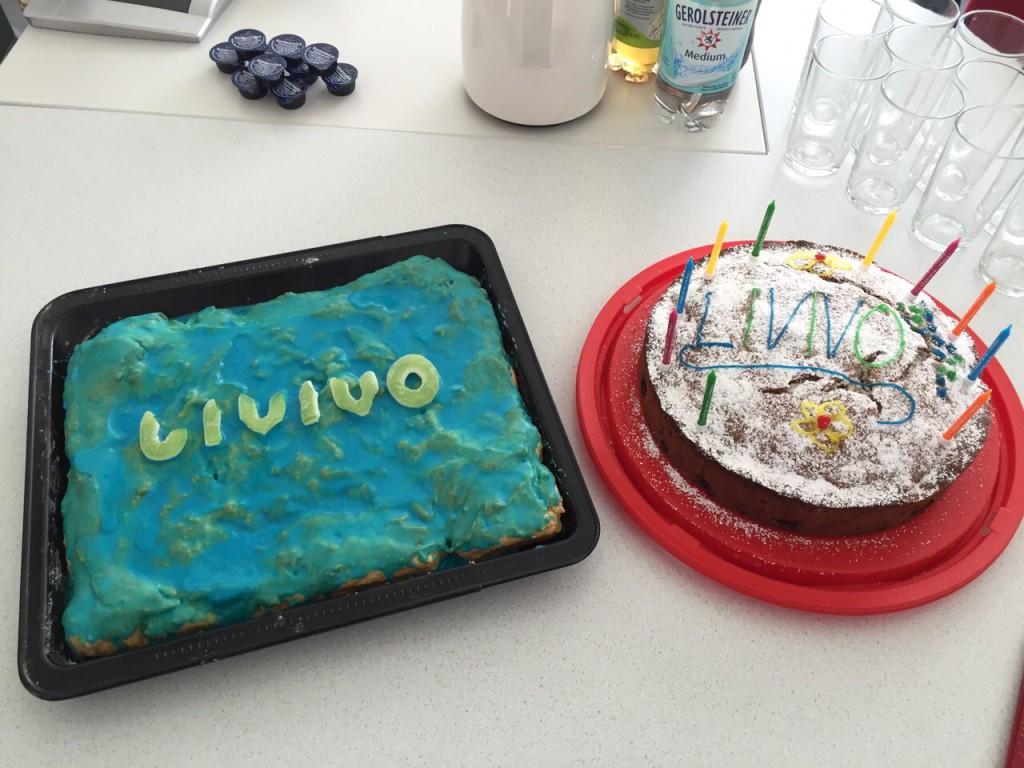 Zur internen Feier des Launchs der Beta-Version von LIVIVO im April 2015 gab es leckeren LIVIVO-Kuchen.