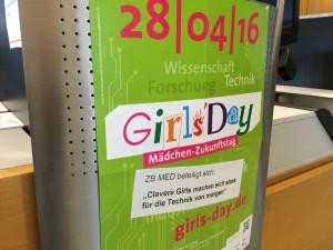 Foto des Begrüßungsschilds beim Girls'Day.
