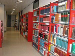 Blick auf die Bücherregalen im Lesesaal