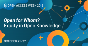 """Read more about the article International Open Access Week 2019 unter dem Motto """"Open for Whom? Equity in Open Knowledge!"""""""