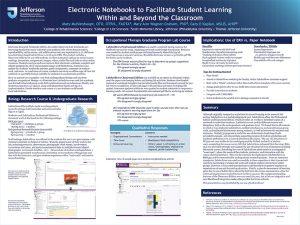 Beispiel: Nutzung der Classroom Edition des ELN LabArchives